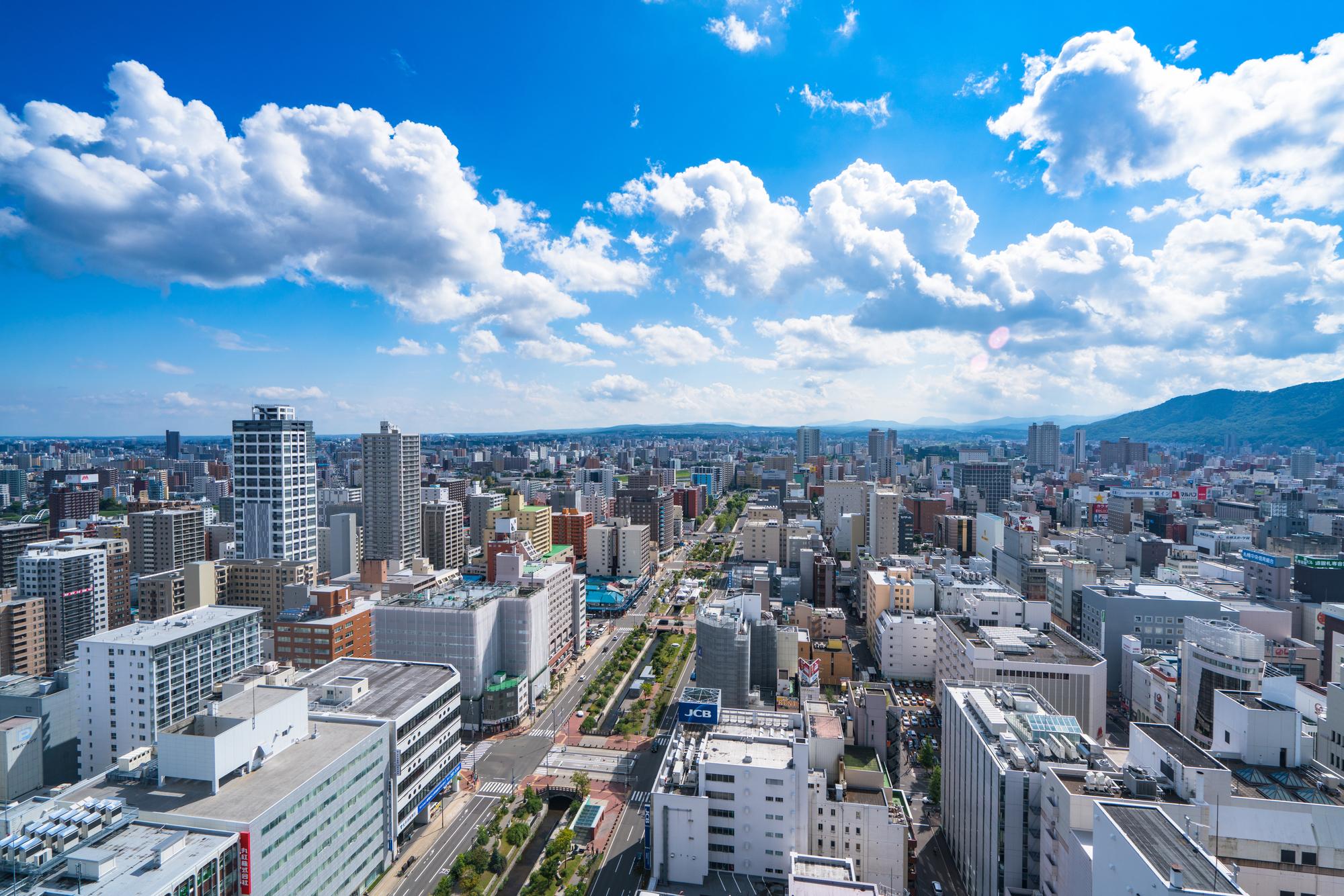 札幌の街並み。