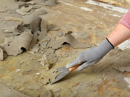 床のリフォーム作業